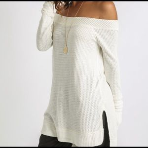 NWOT Free People Kate thermal Chenille Knit